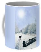 Dog Looking Back Coffee Mug