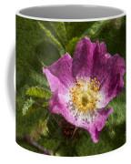 Dog Rose Textured Coffee Mug