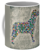 Dog Silhouette Digital Art Coffee Mug