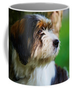Dog Sitting Next To A Tree Coffee Mug