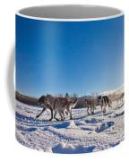 Dog Team Pulling Sled Coffee Mug