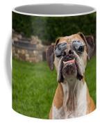 Dog Wearing Sunglass Coffee Mug