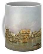 Doges Palace And View Of St. Marks Basin, Venice Oil On Canvas Coffee Mug