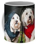 Dogs Under Umbrella Coffee Mug