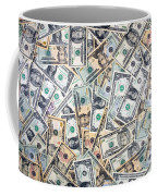 Dollar Background Coffee Mug by Olivier Le Queinec