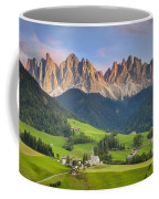 Dolomites From Val Di Funes Coffee Mug