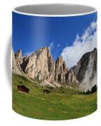 Dolomites In Badia Valley  Coffee Mug