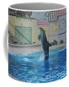 Dolphin Walking On Water Digital Art Coffee Mug