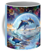 Dolphins By Moonlight Coffee Mug by Adrian Chesterman