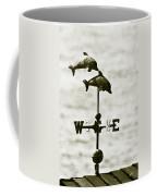 Dolphins Weathervane In Sepia Coffee Mug