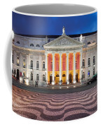 Dona Maria II National Theater At Night In Lisbon Coffee Mug