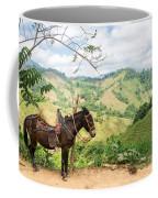 Donkey And Hills Coffee Mug