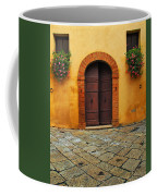 Door And Flowers In A Tuscan Courtyard Coffee Mug