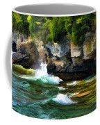 Door County Cave Point Cliffs Coffee Mug