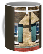 Door County Eagle Bluff Lighthouse Shutters Coffee Mug by Christopher Arndt
