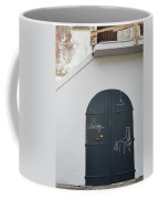 Door With Drawings Coffee Mug