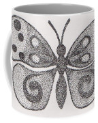 Dotted Butterfly Coffee Mug