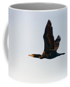 Double-crested Cormorant In Flight Coffee Mug