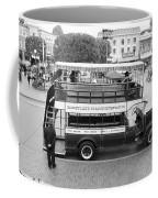 Double Decker Bus Main Street Disneyland Bw Coffee Mug
