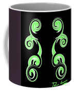 Double Green Swirl Coffee Mug