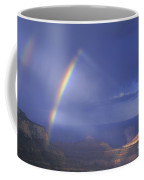Double Rainbow At Cape Royal Grand Canyon National Park Coffee Mug