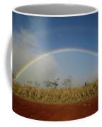 Double Rainbow Over A Field In Maui Coffee Mug