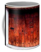 Double Studded Wood Doors Coffee Mug