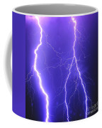Double Triple Blue Lightning Coffee Mug