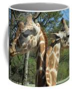 Giraffes With A Twist Coffee Mug