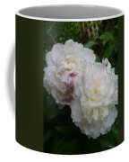 Double White  Peony Coffee Mug