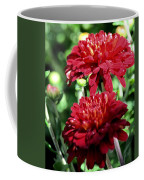 Doubled Red Mums Coffee Mug