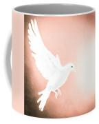Dove In Flight Red Coffee Mug