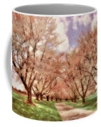 Down The Cherry Lined Lane Coffee Mug