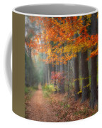 Down The Trail Square Coffee Mug by Bill Wakeley