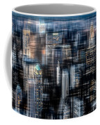 Downtown At Night Coffee Mug by Hannes Cmarits