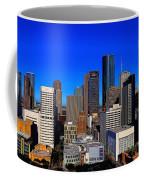 Downtown Houston Painted Coffee Mug