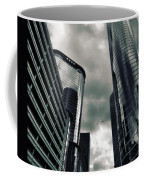 Downtown Houston Skyscrapers In Storm Coffee Mug
