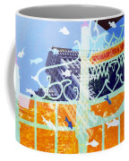 Downtown Manhattan Fishes Coffee Mug