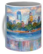 Downtown Minneapolis Skyline From Lake Calhoun II - Or Commission Your City Painting Coffee Mug