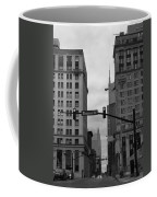 Downtown Nashville In Black And White Coffee Mug by Dan Sproul