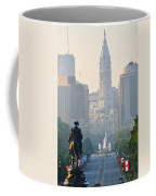 Downtown Philadelphia - Benjamin Franklin Parkway Coffee Mug