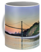 Downtown Vancouver And Lions Gate Bridge At Twilight Coffee Mug by Eti Reid