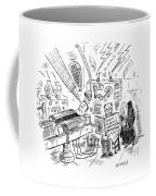 Dr. Frankenstein Reading A Pregnancy Book Coffee Mug