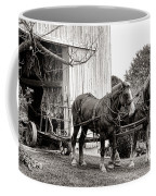 Draft Horses At Work Coffee Mug by Olivier Le Queinec