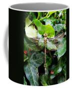 Dragonfly In An English Garden Coffee Mug