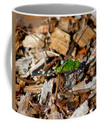 Dragonfly In Mulch Coffee Mug