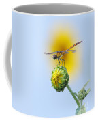 Dragonfly In Sunflowers Coffee Mug by Robert Frederick