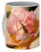 Dragonfly On A Rose Coffee Mug