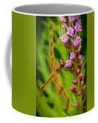 Dragonfly On Liatris Coffee Mug