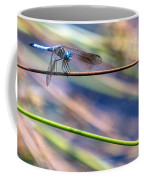 Dragonfly Walking A Tightrope Coffee Mug